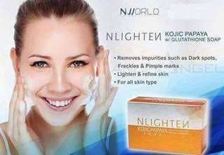 Nworld's Nlighten Kojic +Gluta Soap and Premium Soap
