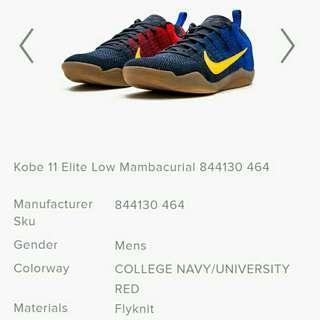 Nike kobe 11 elite low mambacurial