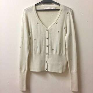 AUTHENTIC Rodarte for & Other Stories Embellished Cashmere Cardigan