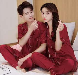 Silk Pyjamas Couple Wear Wedding night