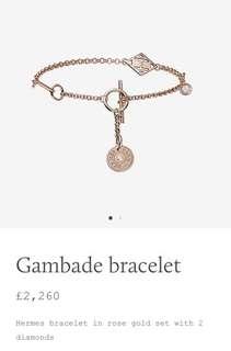 ✨特價✨Hermes 玫瑰金鑽石手鍊