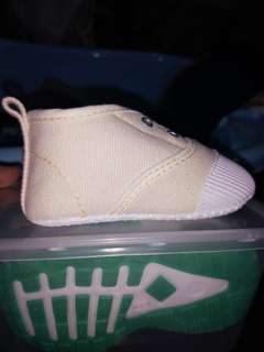 Creme/white color high cut shoes for baby boy