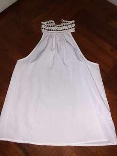白色入膊背心 white top
