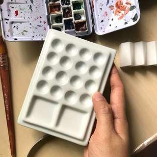 Ceramic Watercolor Palette