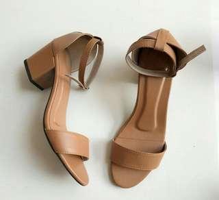 Leatherette Block Heels