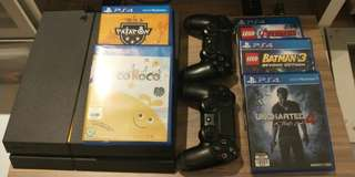 Playstation 4 (500GB) with x5 free games (NON-NEGO)