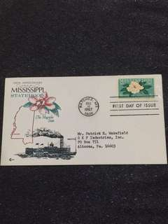 US 1967 Mississippi FDC stamp