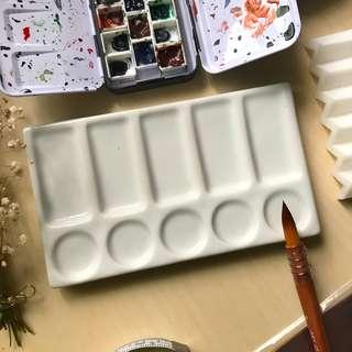 10 Wells - Ceramic Watercolor Palette
