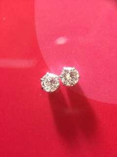 靚💚💚✨ 18K 天然鑽石耳環 ✨💚💚靚