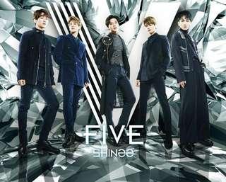 🚚 SHINee專輯 Five CD+DVD