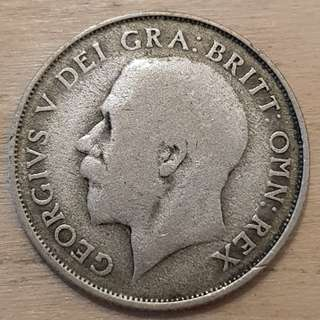 1922 Great Britain King George V Silver Shilling Coin
