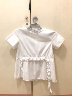 Cotton Ink Ruffle Top