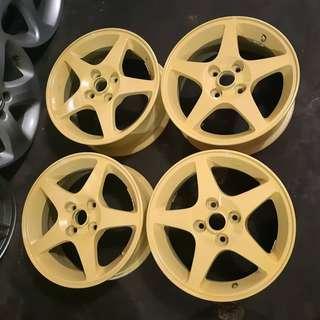 Oem Wheels JDM mitsubishi Lancer Cedia GH-CS5A R15x6.J pcd 100x4H et45