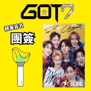 GOT7 團體7人親筆簽名小卡