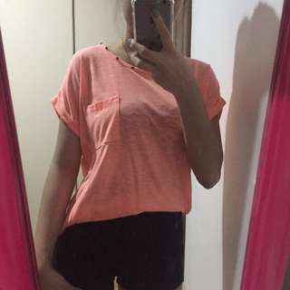 H&M neon orange top (2 pcs available)