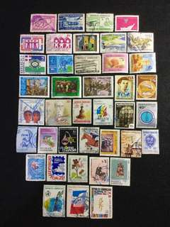Dominican Republic  (Not Commonwealth of Dominica) 40 Used Stamps