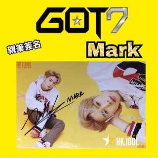 GOT7 Mark 親筆簽名小卡