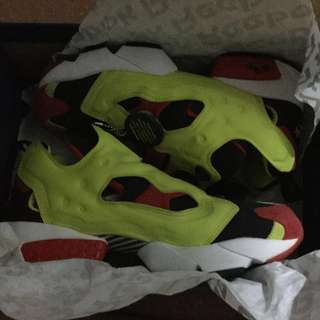 Reebok Insta Pump Fury OG 20th Anniversary Citron Black Yellow Red