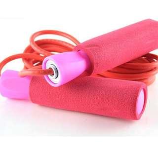 🚚 Adjustable Aerobic Exercise Skipping Jump Rope (Pink)