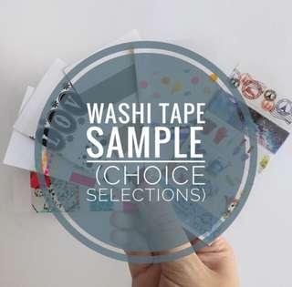 Washi Tape samples (choice selections)