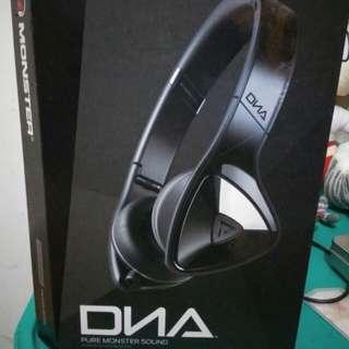 Monster DNA 黑銀色 可接式耳機