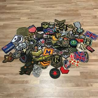 Military style Sewn /Iron On patches 100pcs