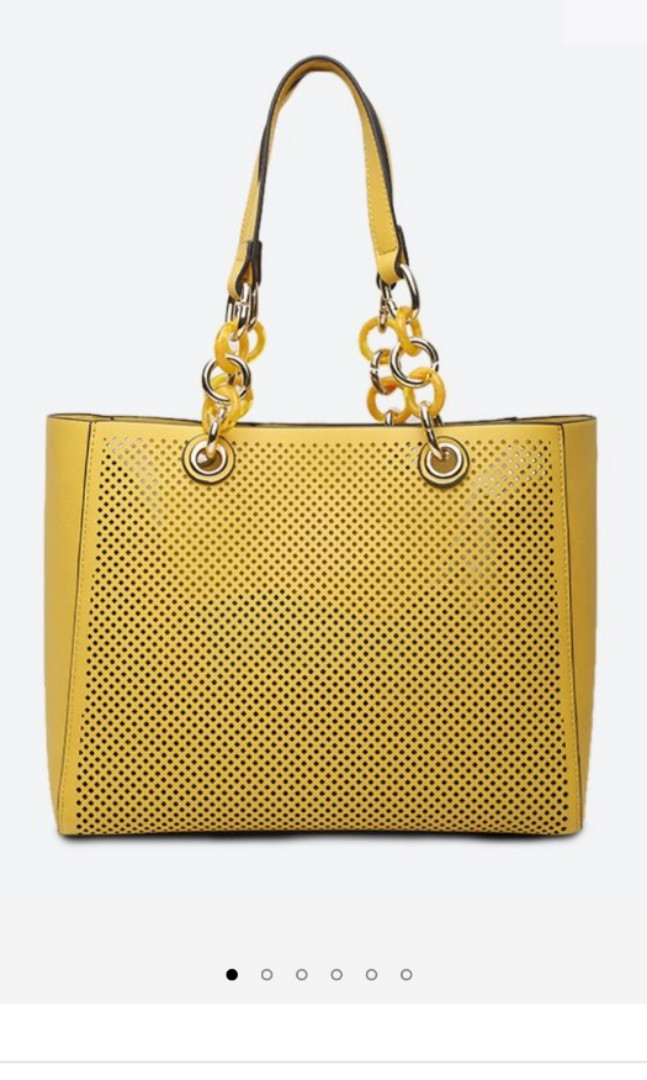6d840c47419 Aldo Werlinger Yellow Tote bag