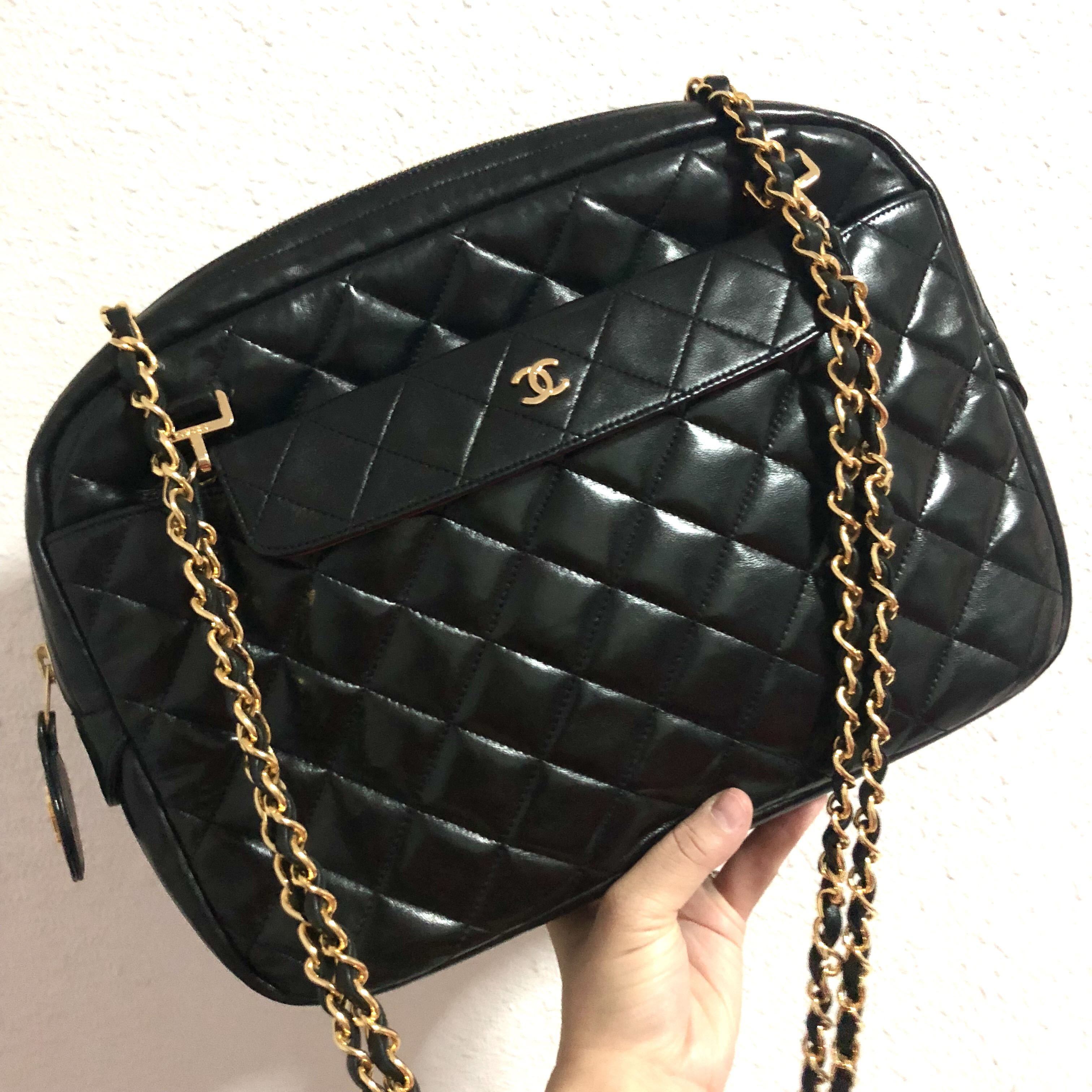 69425f9dd152 Authentic Chanel Lambskin Quilted Bag with 24k Gold Hardware, Luxury ...