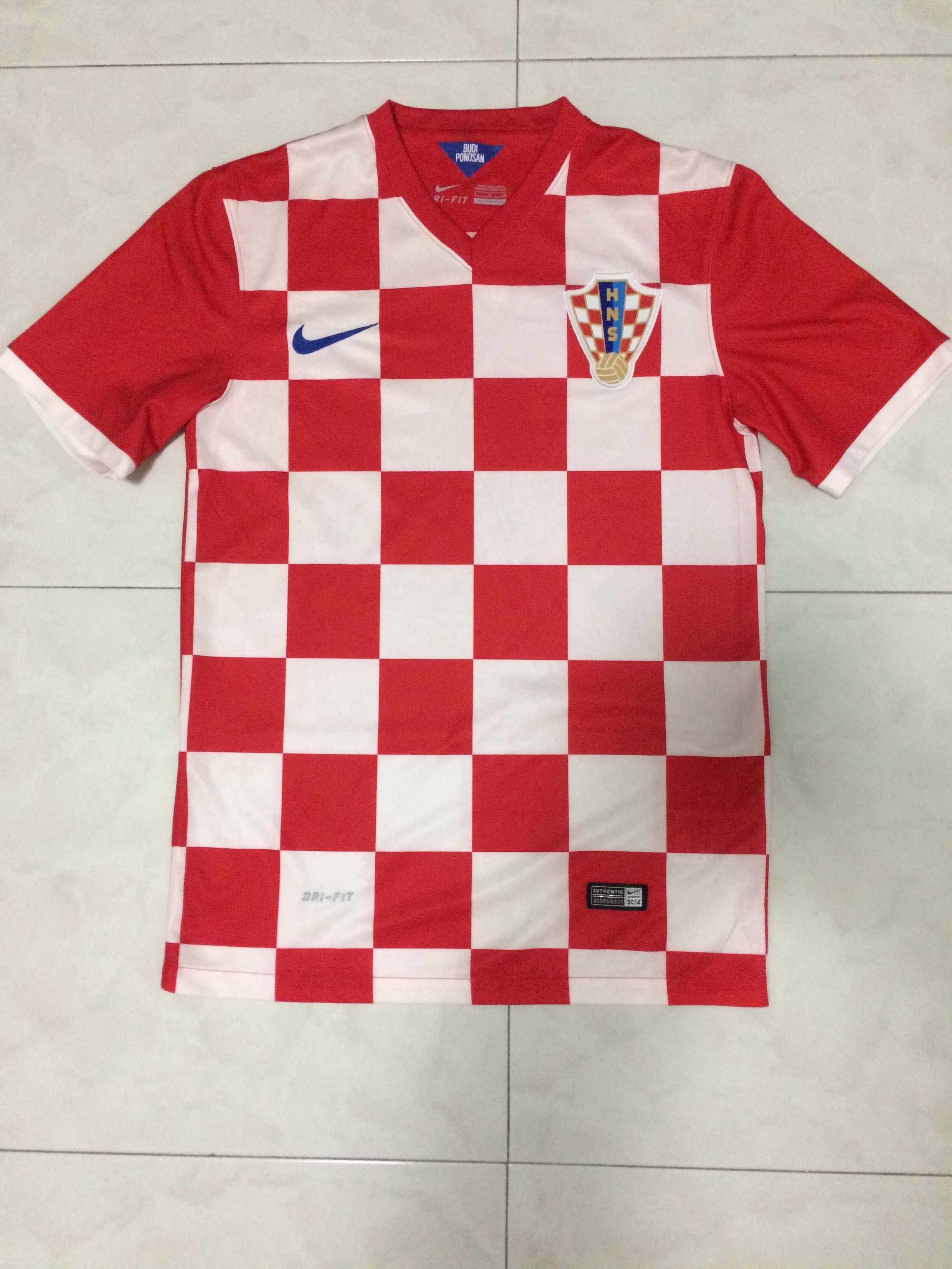 629022941 Authentic Nike Croatia World Cup Football Home Jersey