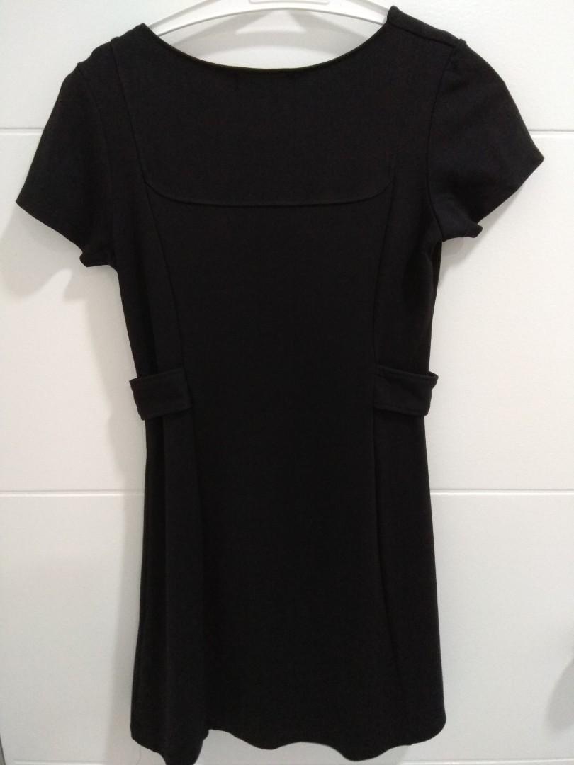 Creme Black Dress