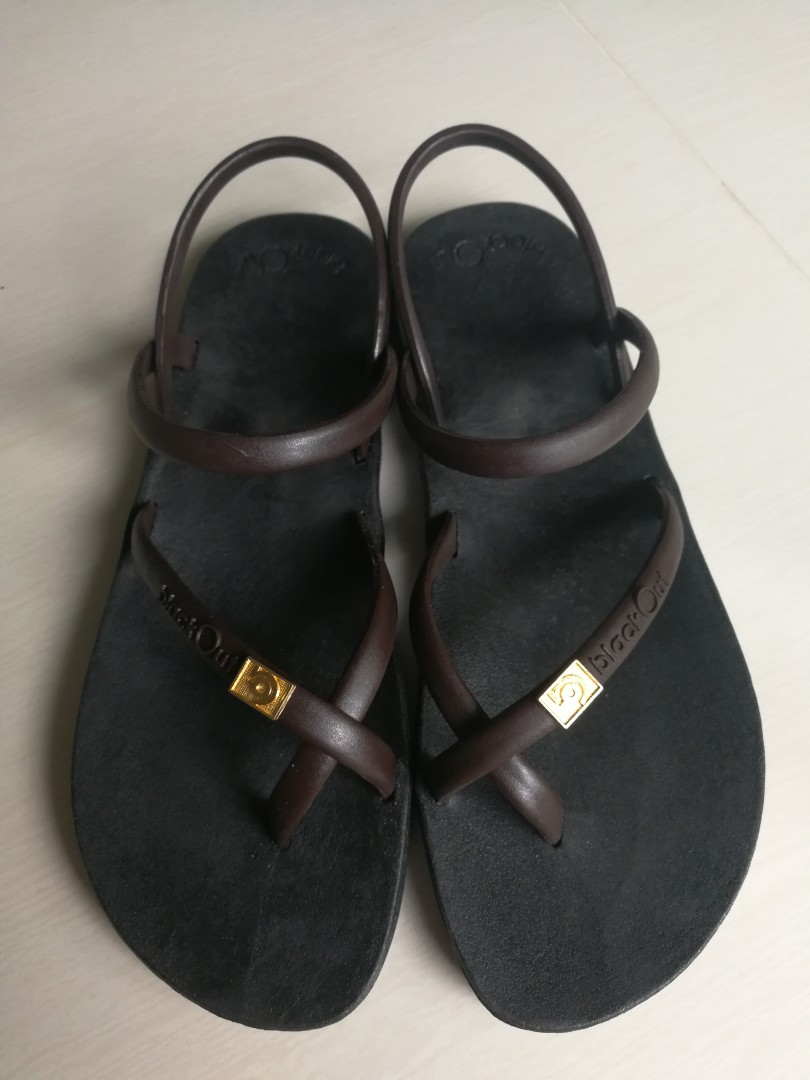 44fc254bdbf5d8 Blackout mens sandals black brown