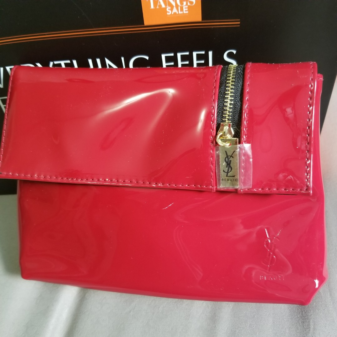 c82cde307f28 BN YSL Cosmetic Clutch Purse Pouch Bag NOT LV Chanel Estee Lauder Lancome  Tom Ford