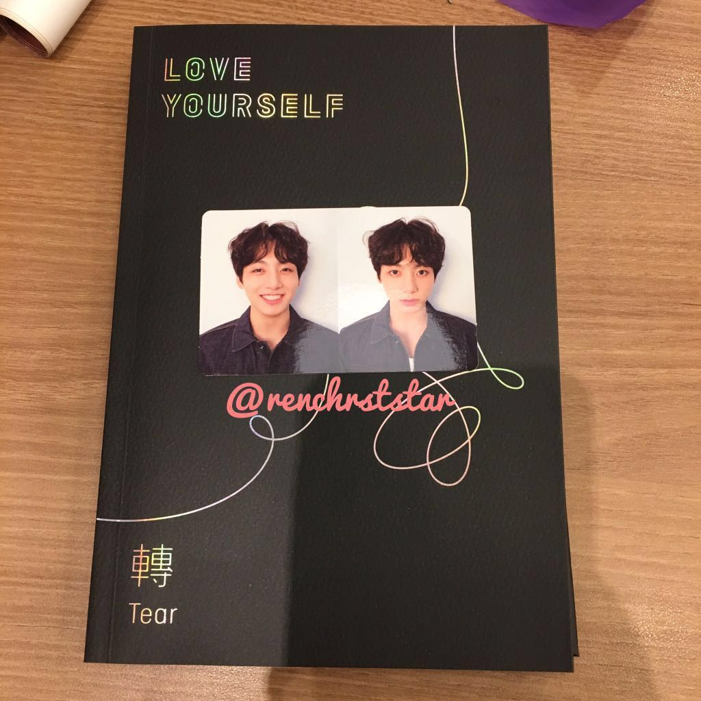 bts love yourselftear ver r fullset w jungkook photocard 1527939306 680a37f1