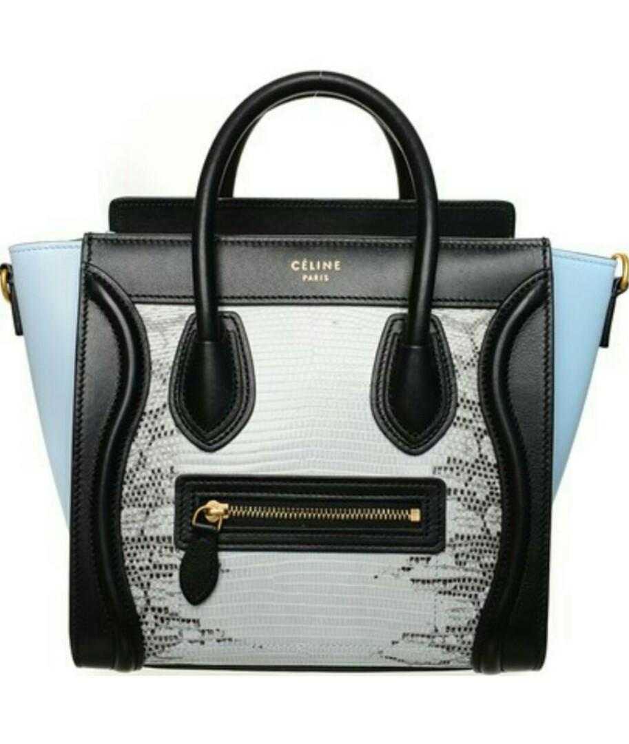 Celine Nano luggage multicolour lizard skin, Luxury, Bags   Wallets ... ed6cbe1072
