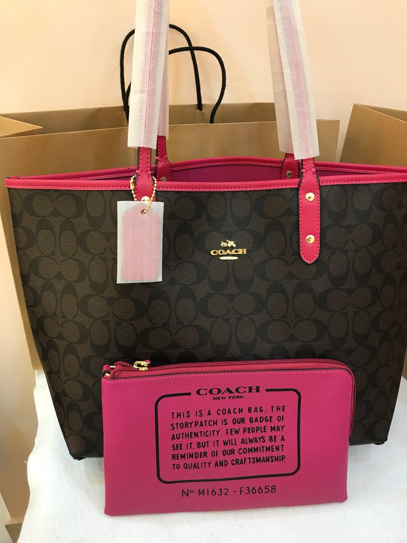 84af6b20c4 Coach Reversible Tote Ready Stock