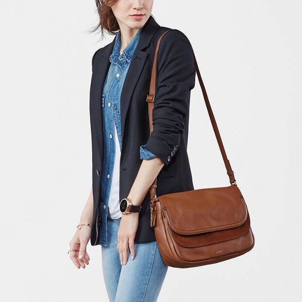 2d3ec1d14 Fossil Peyton Large Double Flap Crossbody, Women's Fashion, Bags & Wallets  on Carousell