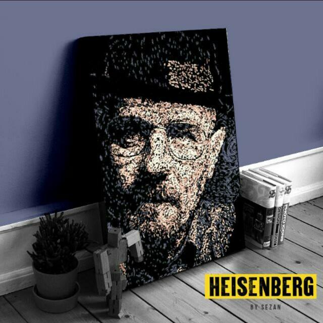 Heisenberg Breaking Bad Wooden Poster Frame Home Furniture