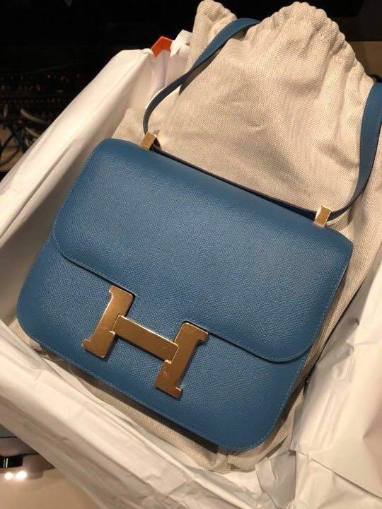 556ea3641188 Hermes C24 Bleu Brighton Epsom
