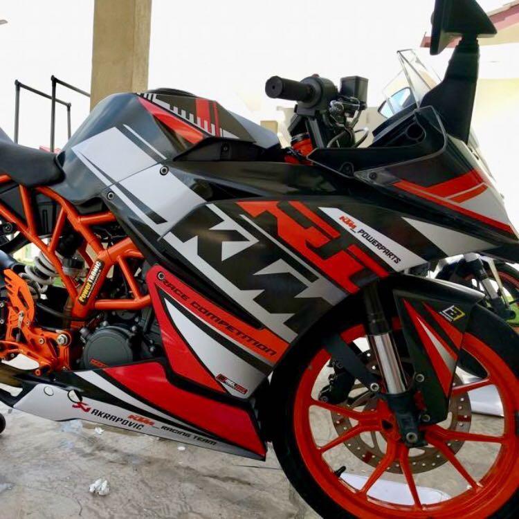 Ktm Rc Decal Sticker Motorbikes Motorbike Apparel On Carousell