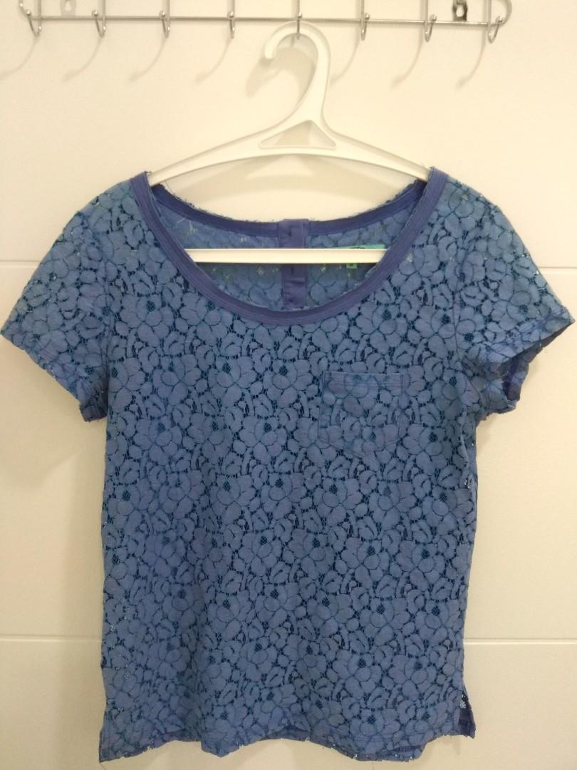 Filanto Blue Lace Top