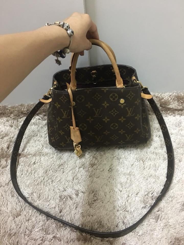 fc2dc41770aec4 Lv Montaigne BB, Luxury, Bags & Wallets, Handbags on Carousell