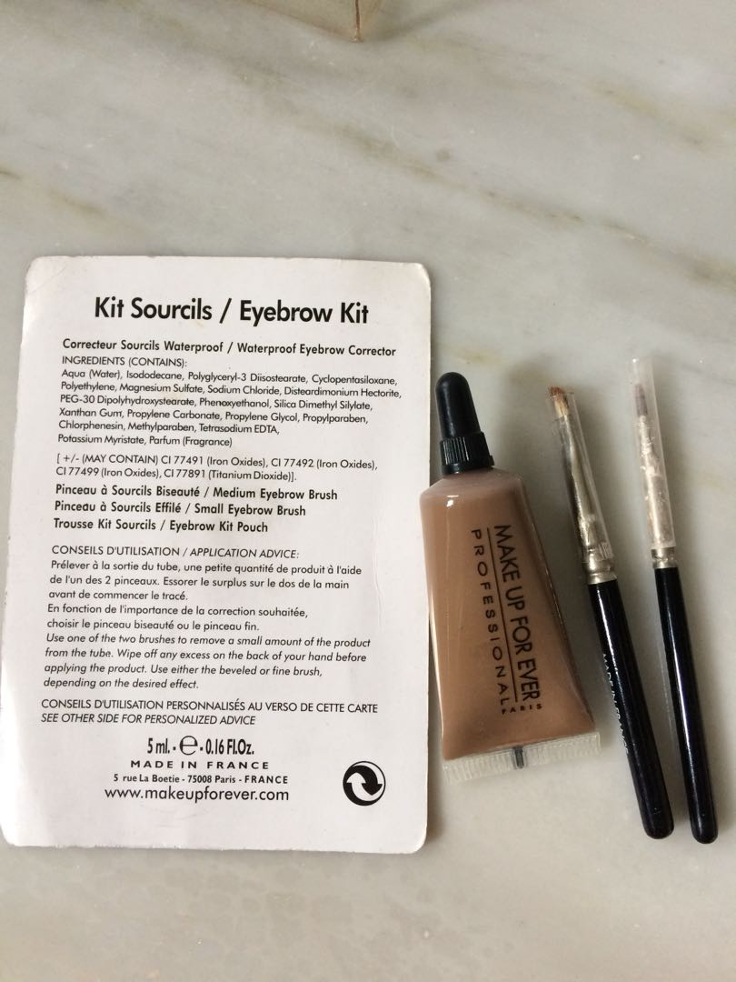 Makeup Forever Eyebrow Kit Eyebrow Tint 2 Brushes Health