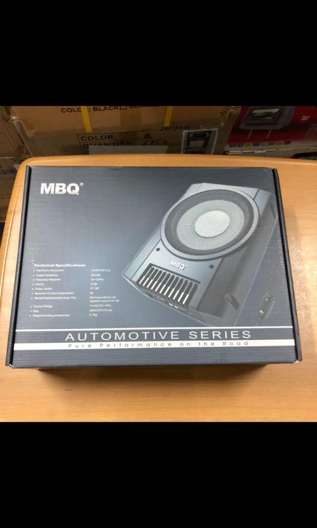 MBQ 10 inch active woofer Mbq Subwoofer Wiring Diagram Active on