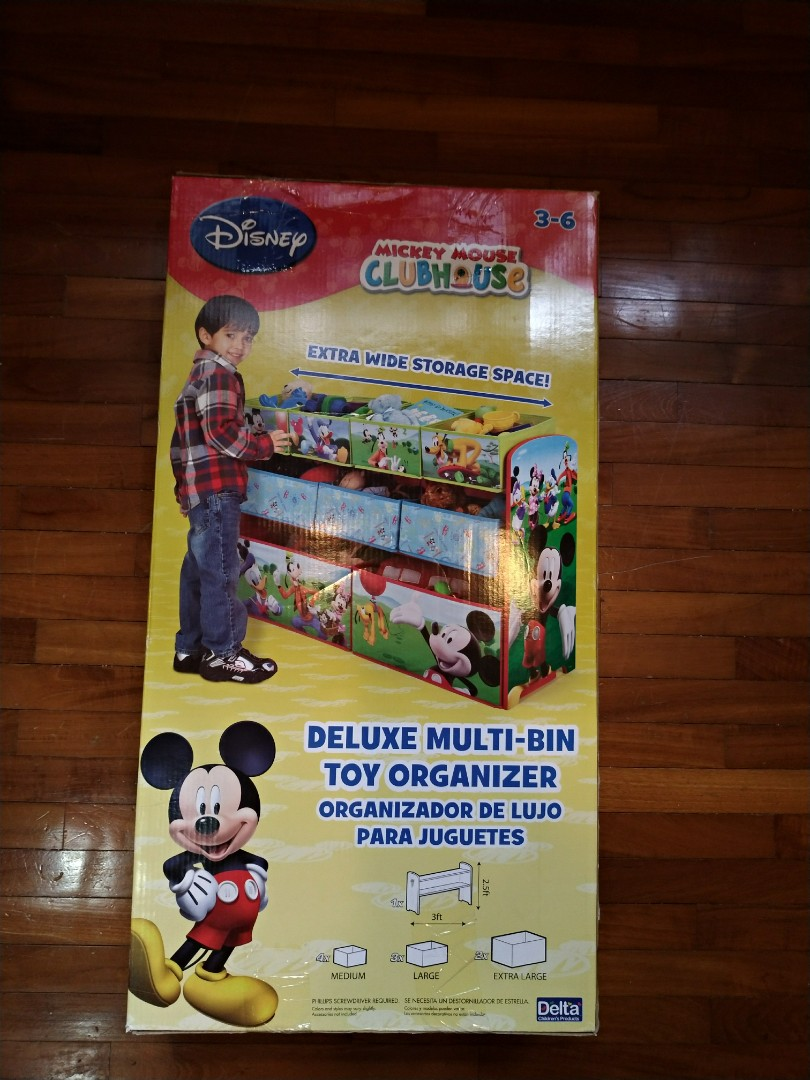 Mickey Mouse Clubhouse Multi Bin Toy Organizer Furniture Shelves