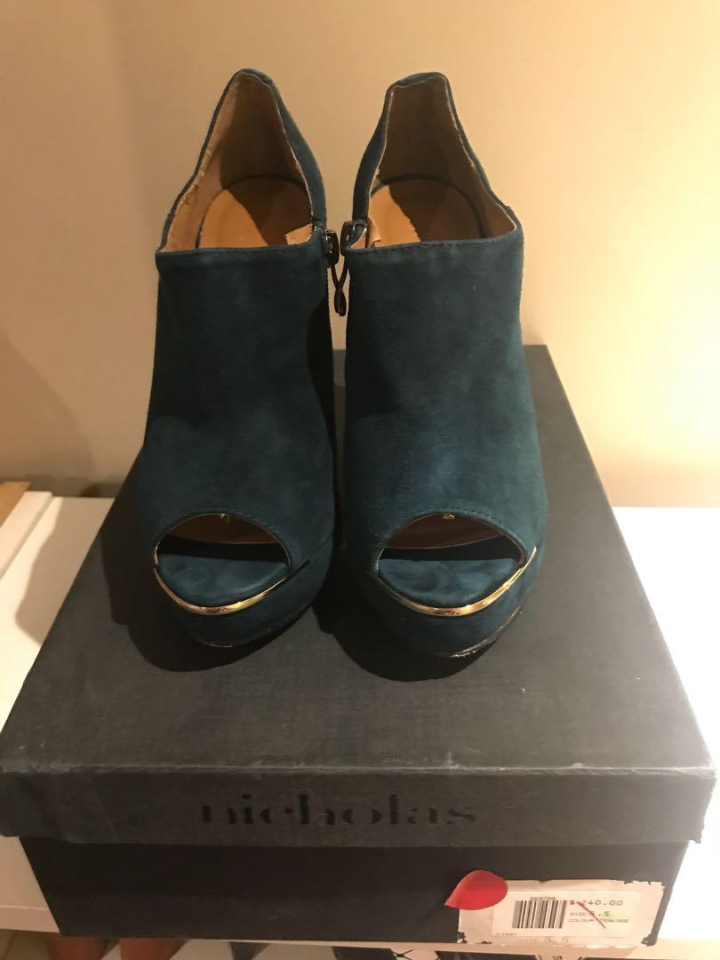 Nicholas suede leather heels size 5.5