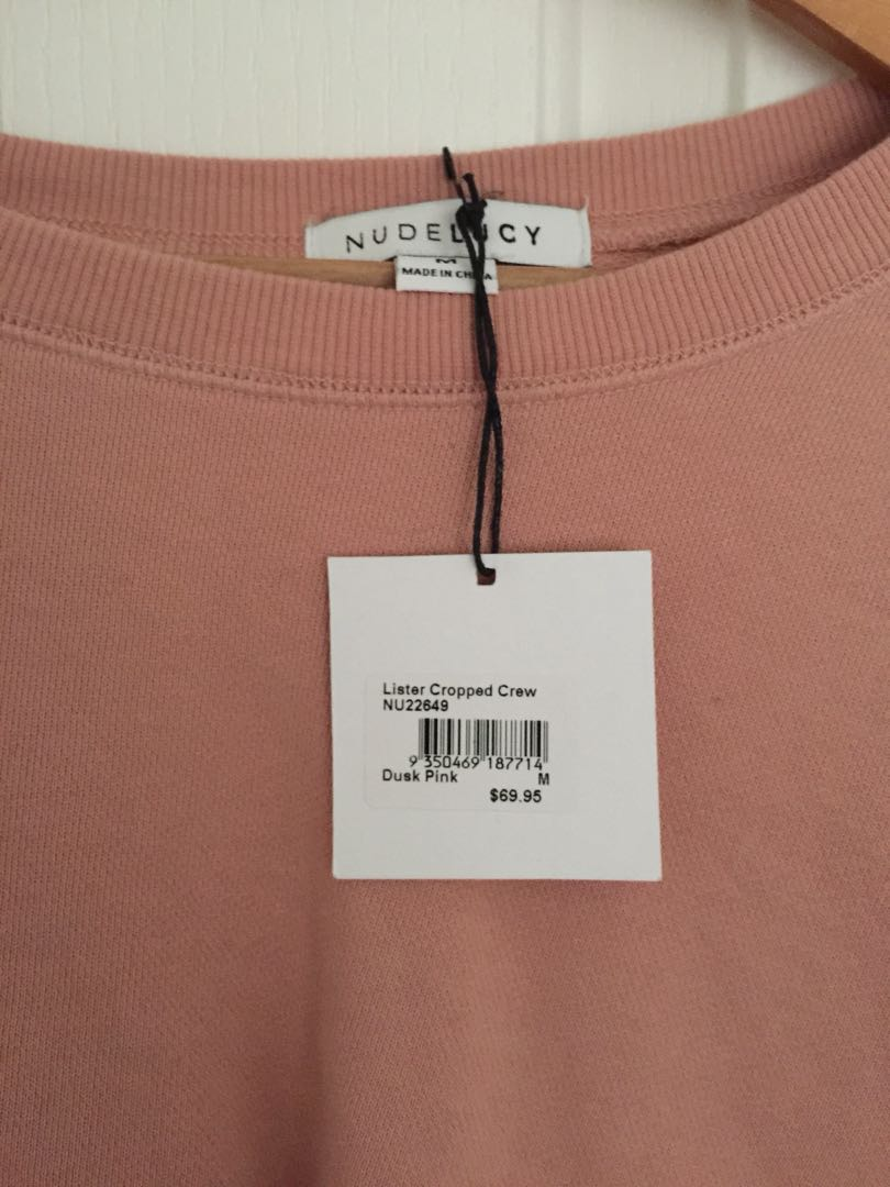 Nude lucy pink crop
