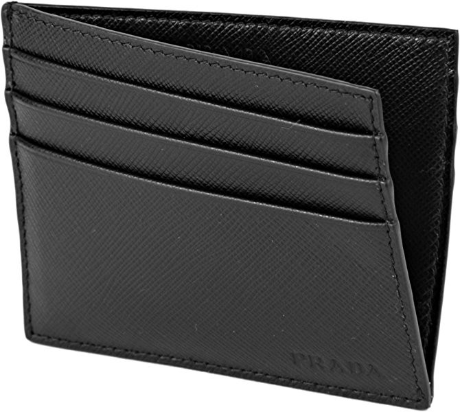 53ef7330d163e2 PRADA Saffiano Leather Card Case Wallet, Black 2MC223, Men's Fashion ...