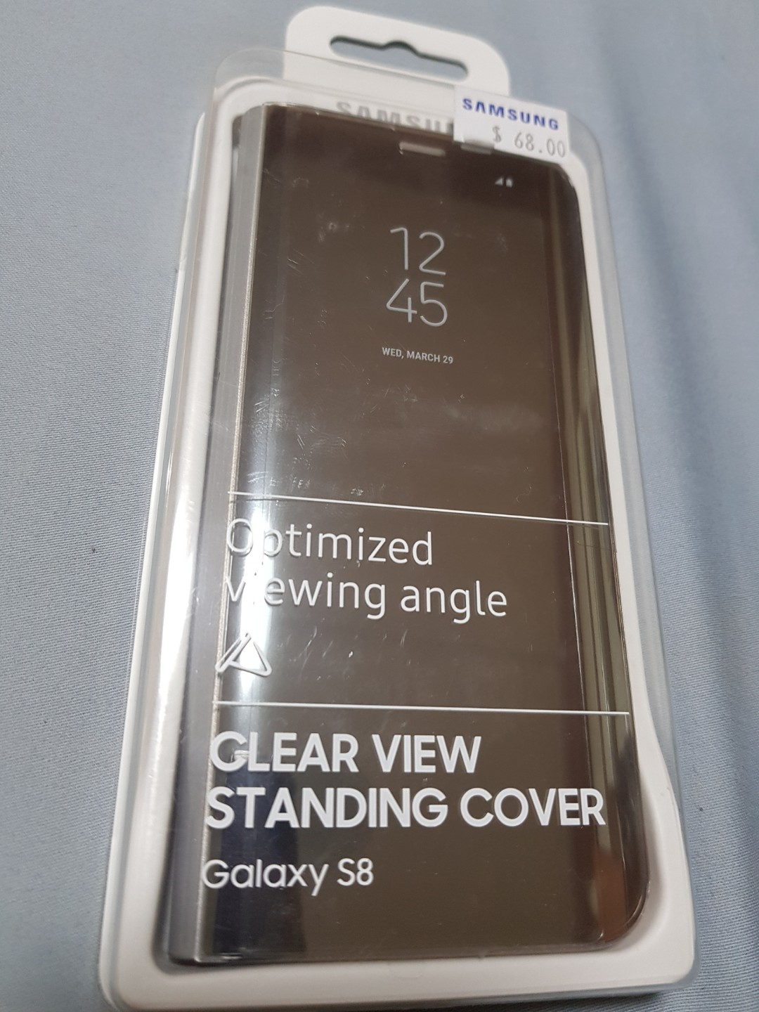 hot sale online 1f8d4 19778 Samsung Galaxy S8 Clear View Standing Cover - Silver