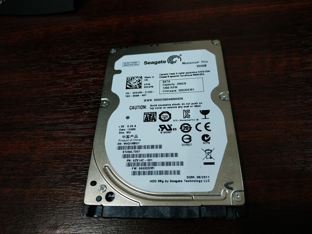 Seagate 25 Harddisk 250gb Electronics Computer Parts Hardisk Pc 250 Gb Sata Accessories On Carousell