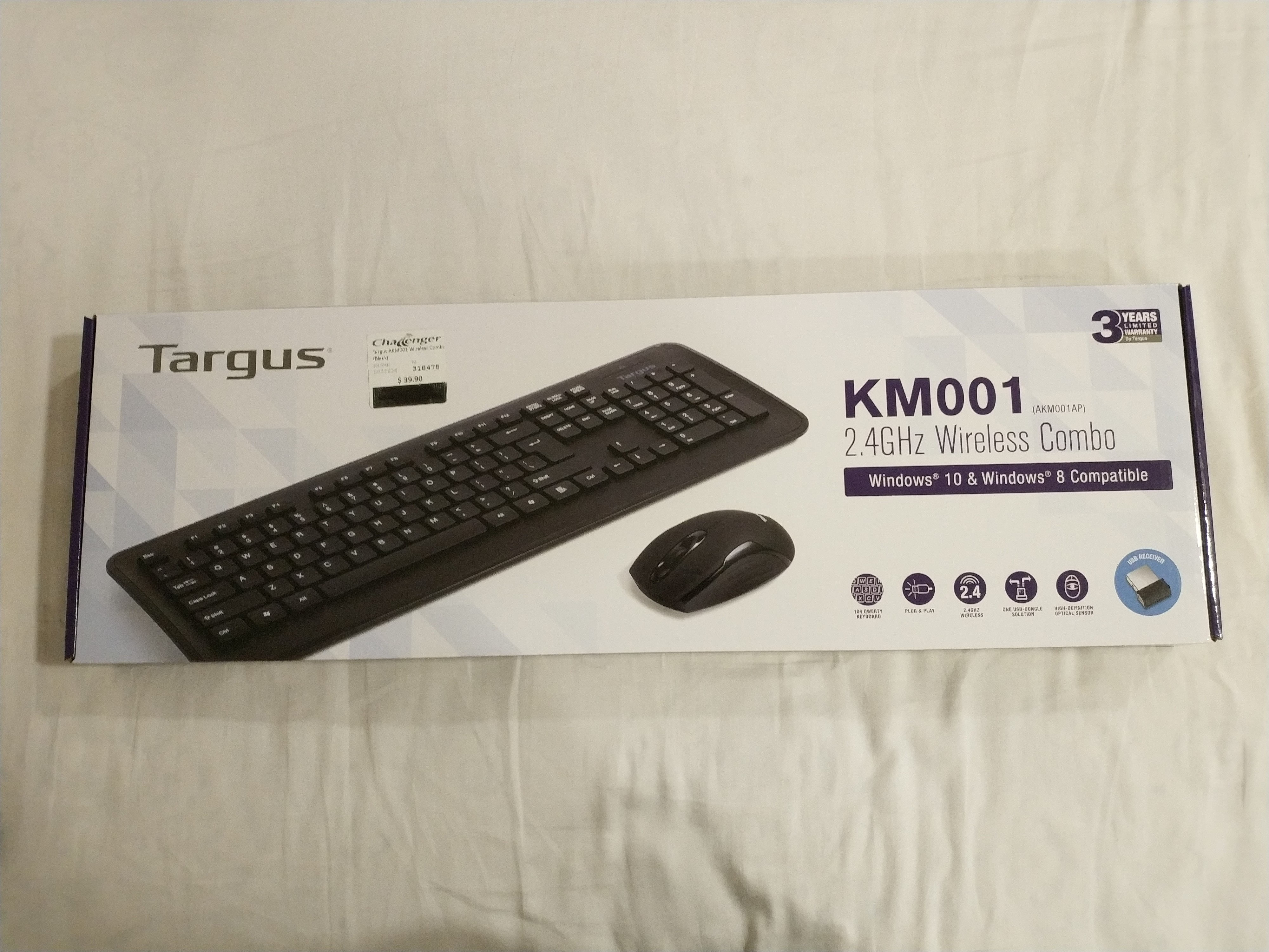 563ecf9a058 Selling Targus KM001 Wireless Keyboard and Mouse, Electronics ...